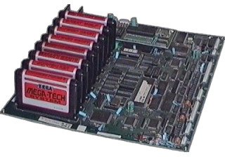 Mega-Tech PCB mit 8 Spielcartridges